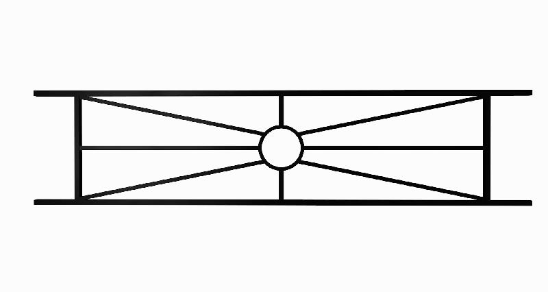 Ограда металлическая «Солнышко»