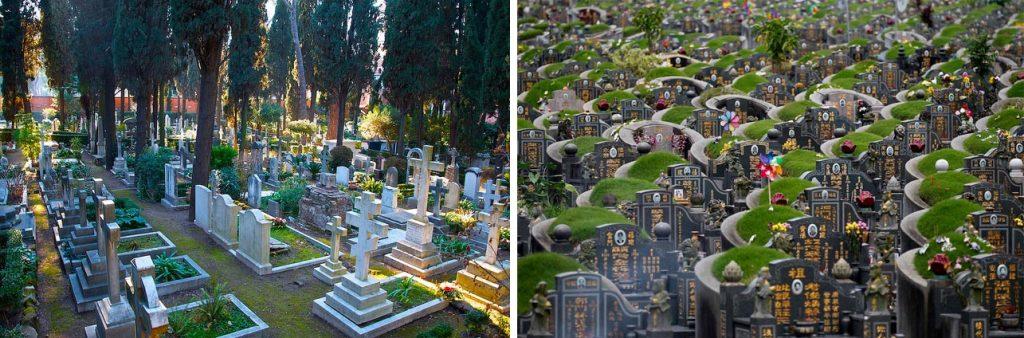 Отличия западных надгробий от азиатских памятников