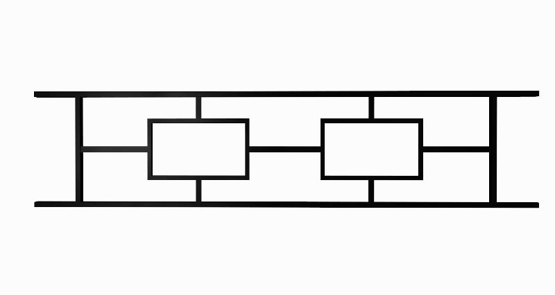 Ограда металлическая квадрат